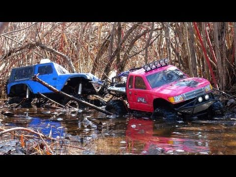 RC ADVENTURES - Technical Difficulties - Scale 4x4 RC Trucks - Glacier Swamps
