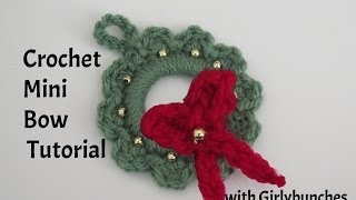 Crochet Mini Bow Tutorial | Girlybunches