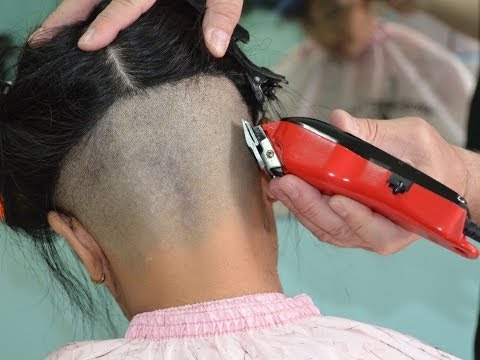 Nape hair clippers cut