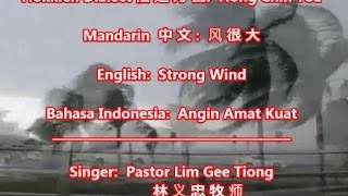 Strong Wind - 风很大 - Hong Chin Toa - Hokkien Song with Lyrics - Ps GT Lim