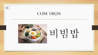 Từ vựng tiếng Hàn theo chủ đề - Món ăn