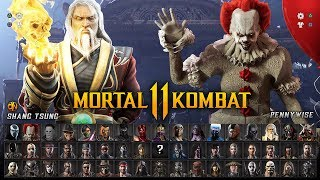 MORTAL KOMBAT 11 - Full Character Roster Wishlist (40 Fighters w/ DLC Guest Characters)