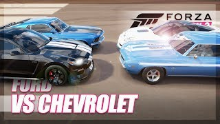 Forza Horizon 3 - Ford vs Chevrolet Challenge! (Burnouts & More!)