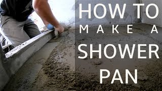 How to Make a Shower Pan