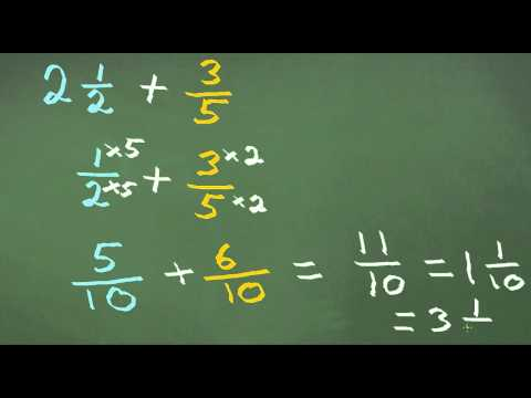 Adding Mixed Fractions