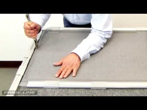 How-To: Re-screening an aluminum window screen.