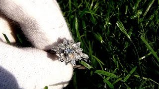 Natural Round Diamond Engagement Ring 14KT Gold