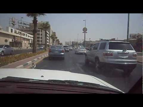 Driving in Dammam, Saudi Arabia - July 2012