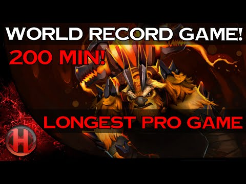 World Record Game! 200 Min Longest Pro Game - Cloud 9 vs SFZ Dota 2