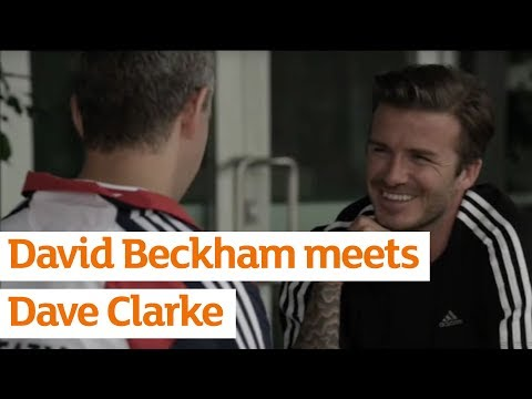 David Beckham Meets Team GB s Dave Clarke To Talk Football - Exclusive From Sainsbury s