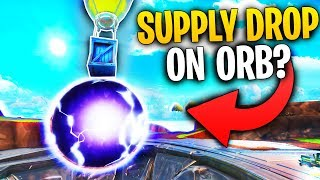 What Happens When A Supply Drop Lands On The ORB IN LOOT LAKE From The Event? | Fortnite Mythbusters