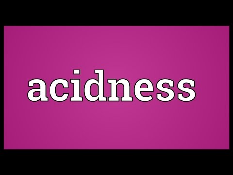 Header of Acidness