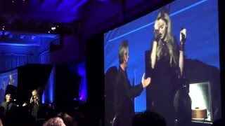 Madonna performs La Vie En Rose at JPHRO Haiti Relief dinner