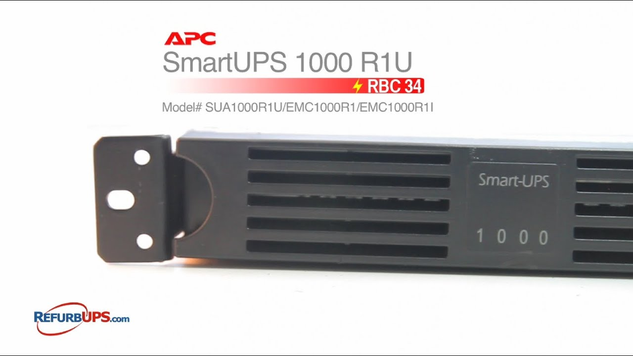 Rbc34 Battery Replacement For Apc Smartups 1000 R1u Youtube