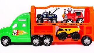 Car Toy Vehicles for Children Car Transporter Tow Truck Monster Truck School Bus