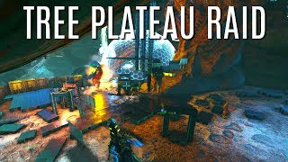 THEY DROPPED THE SHIELD!  Tree Plateau Raid - Official 6 Man Tribes - ARK Survival