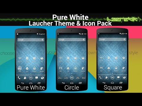 Pure White - Minimal Icon Pack and Theme (nova. apex. go launcher ex...)