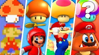 Evolution of Super Mario Special Mushroom Power-Ups (2000 - 2019)