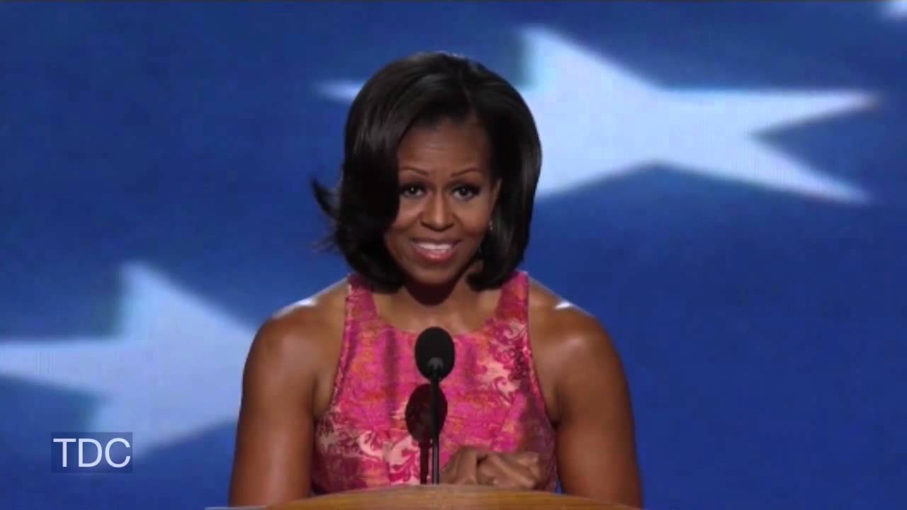 Mitt Speak >> Michelle Obama's DNC Speech (HD-Full) - YouTube