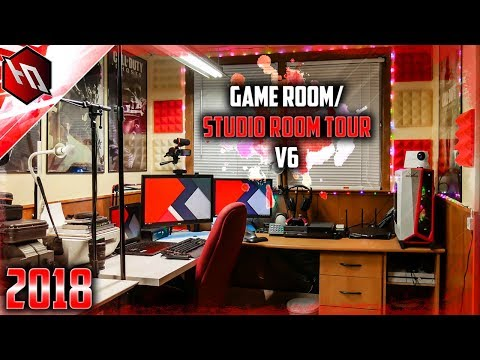 (Mid 2018) Tech HD Game Room/Studio Room Tour V6 (4K)