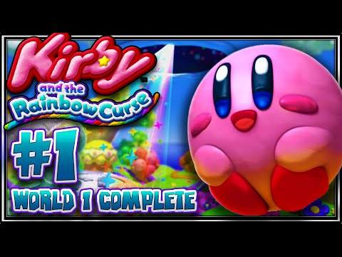 Kirby And The Rainbow Curse - Part 1 (1080p 60fps) World 1 Complete video