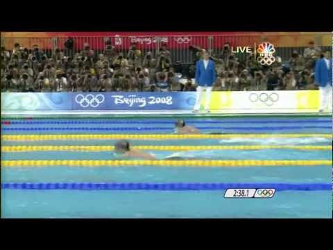 Michael Phelps 1st Gold 2008 Beijing Olympics Swimming Men's 400m Medley