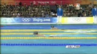 Michael Phelps 1st Gold 2008 Beijing Olympics Swimming Men's 400m Medley