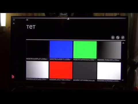 Видео как проверить телевизор на битые пиксели
