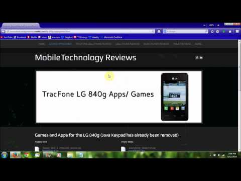 How to get Apps/Games on the LG 840g (UPDATED)