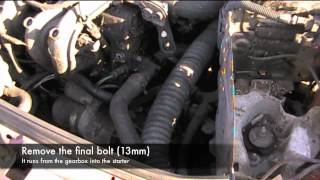 Renault Clio Starter Removal
