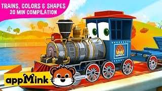 #appMink kids video: Kids Educational Videos about Color, Shape & Numbers with Toy Trains