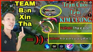 """Liên Quân Mobile - Trận Cuối Lên KIM CƯƠNG Cầm NAKROTH Khiến Team bạn """"XIN THA""""...!"""