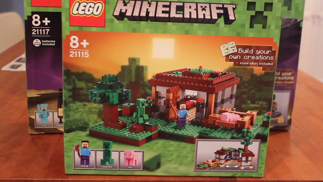 "LEGO Minecraft Box Sets - The First Night and Ender Dragon ""Unboxing ..."