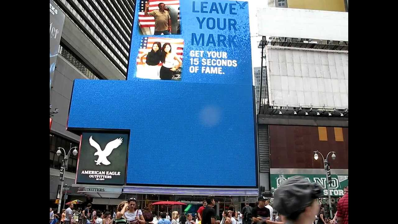 15 Seconds Fame Times Square Your 15 Seconds of Fame at