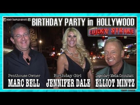 Penthouse Owner Marc Bell Celebrates Jennifer Dale's Birthday With Elliot Mintz At Lucky Lanes video