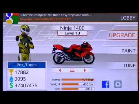 DR Bike Edition 6.711 Ninja 1400 LVL 10 quarter mile