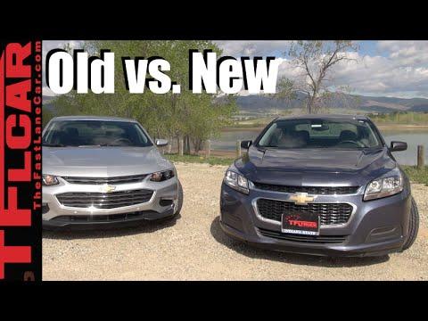 2016 Chevy Malibu vs 2014 Malibu: Old vs New Mashup Review