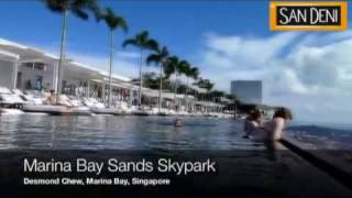 Бассейн в отеле Marina Bay Sands