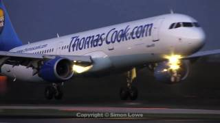 Early morning arrivals at Manchester Airport