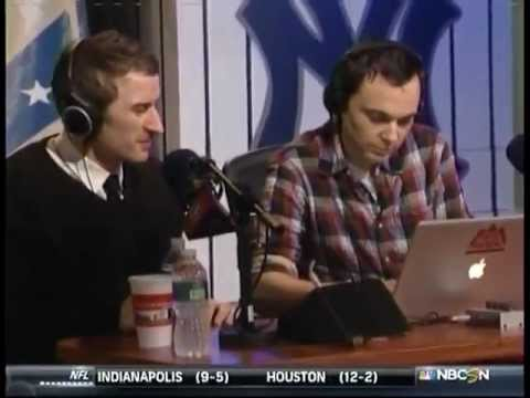 Jim Parsons on The Dan Patrick Show Live Look-in only - 1 of 3 (12.17.12)