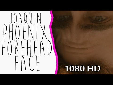 Joaquin Phoenix's Forehead FACE HER - SHARE if you LOVE IT Thanks