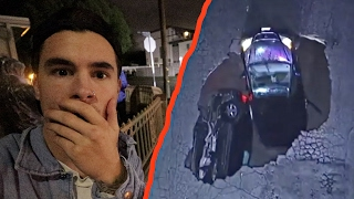 2 CARS SWALLOWED BY SINK HOLE!!