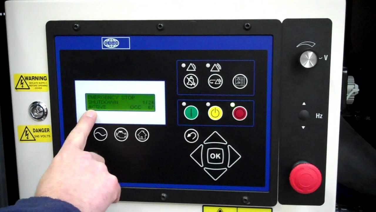 Fg Wilson Wiring Diagram Pdf : Fg wilson powerwizard control panel youtube