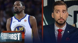 Nick and Cris discuss if Kevin Durant should miss the 2019-2020 season | NBA | FIRST THINGS FIRST