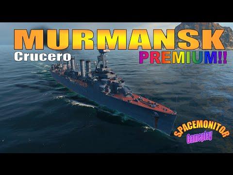 World of warships - Crucero Murmansk gameplay y analisis en español T5 Rusia Premium