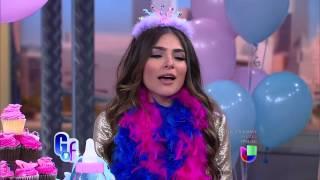 Alejandra Espinoza cuenta como se entero de su embarazo