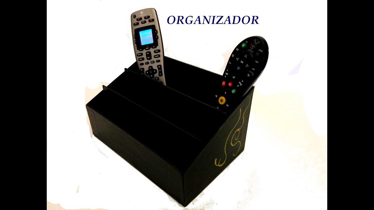 Organizador de escritorio moviles tablet diy - Organizador de mandos ...
