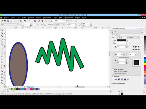 Curso Introducción a CorelDraw X6 - 40 Convertir Contornos en Objetos