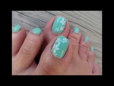 Decoraciones de u as de pies faciles youtube - Decoraciones para las unas ...
