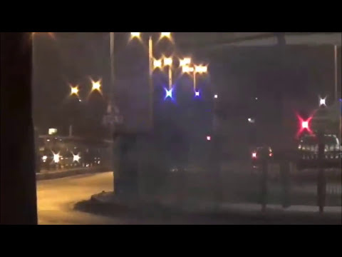 Bahrain : Riot Police Armoured Vehicle Attack Neighborhoods  With Tear Gases